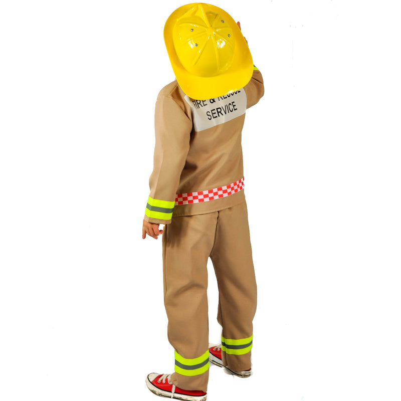Children's Fire & Rescue Officer Costume - Fire Fighter Costume -Pretend to Bee 1
