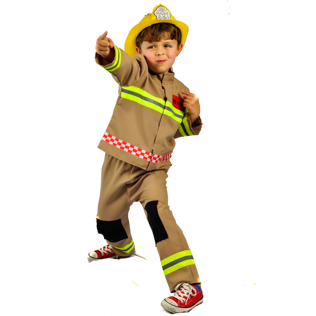 Children's Fire & Rescue Officer Costume - Fire Fighter Costume -Pretend to Bee