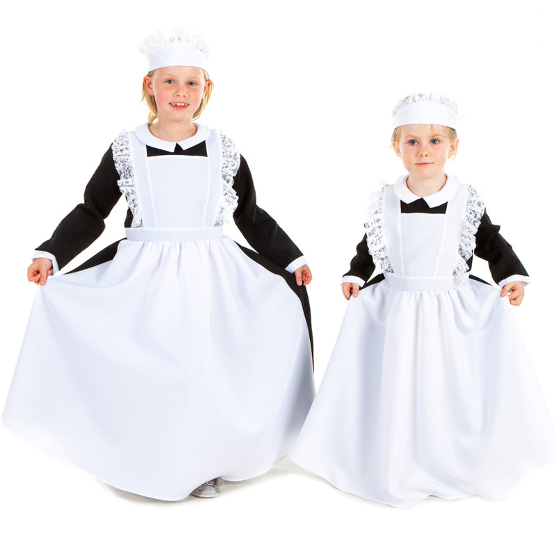 Children's Victorian Housemaid Dress With Head Dress , Children's Costume - Pretend to Bee