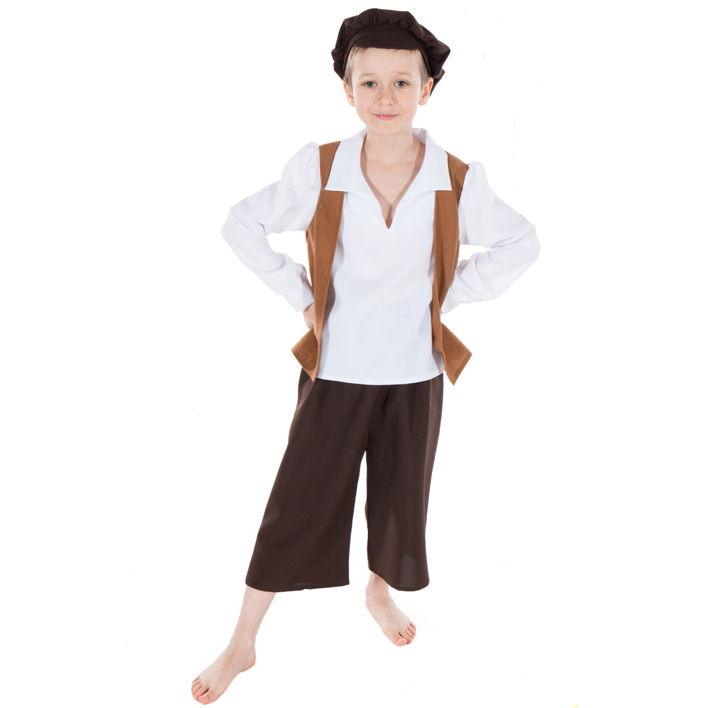 Children's Victorian Street Trader Costume , Children's Costume - Pretend to Bee
