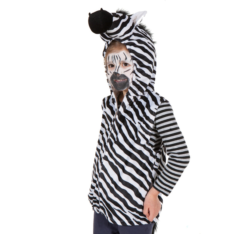 Children's Zebra Fancy Dress Zip Top , Children's Costume - Pretend to Bee