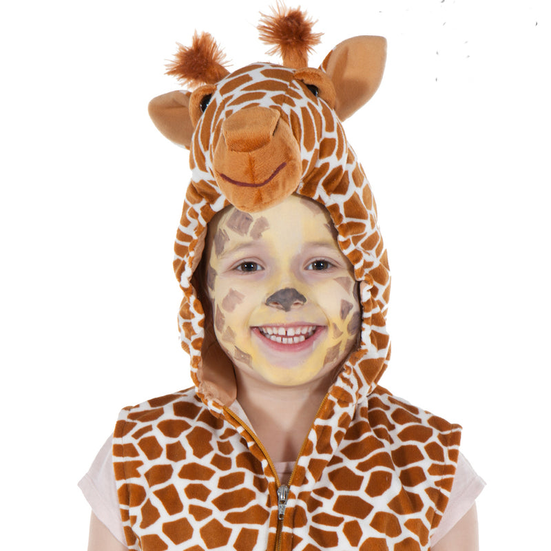 Children's Giraffe Fancy Dress Zip Top- Giraffe Costume - Children's Dress Up