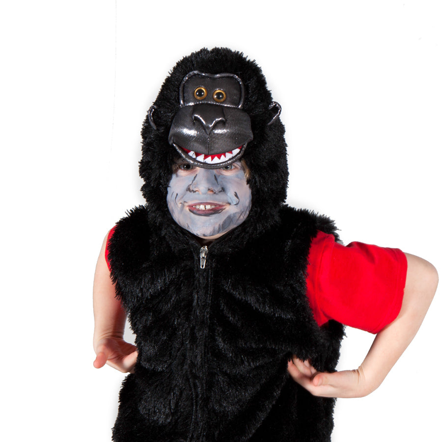 Children's Gorilla Fancy Dress Zip Top- Children's Costumes