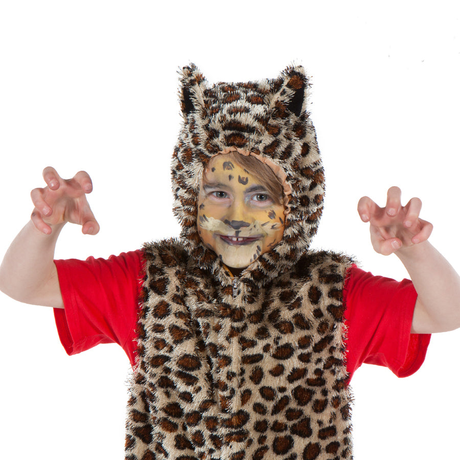 Kid's Leopard Costume - Zip Top - Children's fancy Dress- Pretend to Bee -2