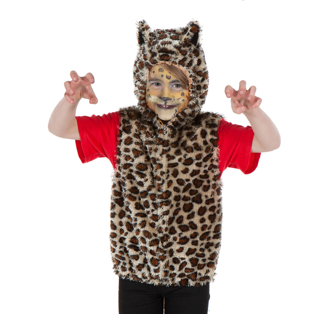Children's Leopard Fancy Dress Zip Top - Children's fancy Dress- Pretend to Bee