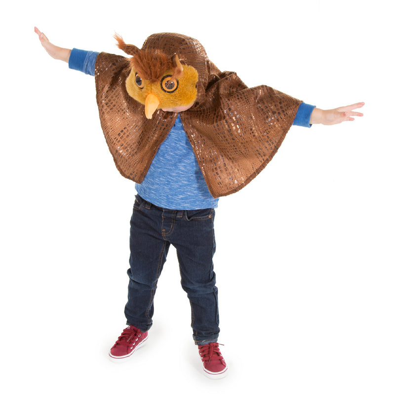 Children's Owl Fancy Dress Cape- Children's Dress Up-Pretend to Bee