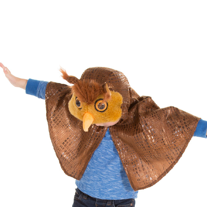 Children's Owl Fancy Dress Cape , Owl Costume, Children's Costume - Pretend to Bee, Ayshea Elliott - 2