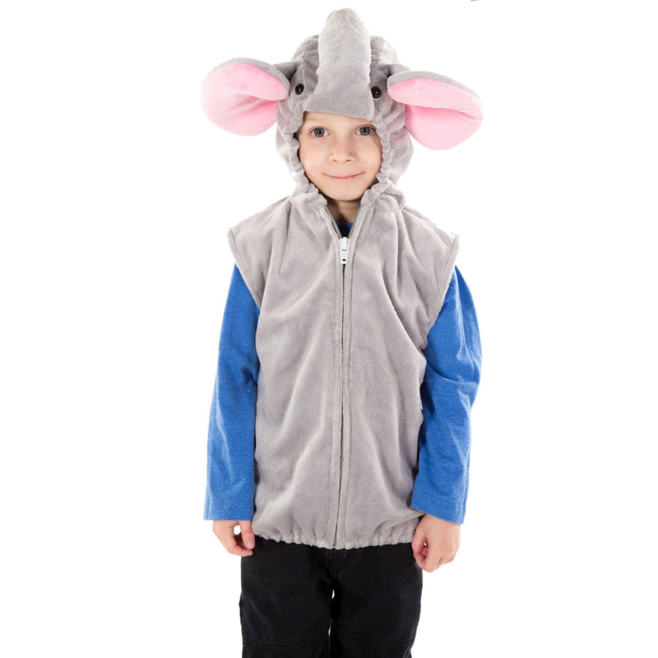 Children's Elephant Zip Top- Elephant Costume - Children's Fancy Dress- Pretend to Bee