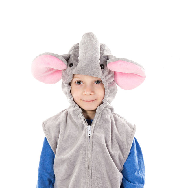 Elephant Zip Top- Children's Fancy Dress - Time to Dress Up