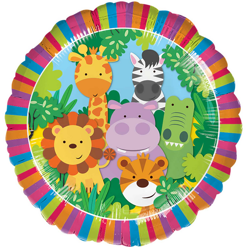 Jungle Friends Foil Balloon - 18 inch/45 cm