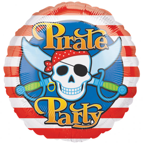 Pirate Party Foil Balloon - 18 inch/45 cm