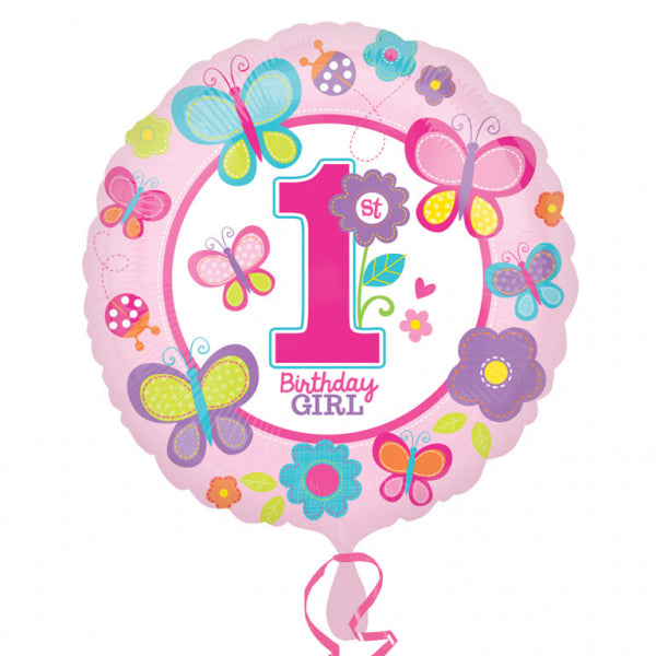 Sweet Girl 1st Birthday Foil Balloon - 18 inch/45 cm