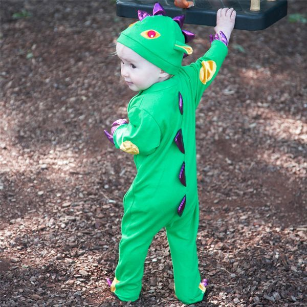 Baby Green Dragon Costume-Travis Dress up by Design