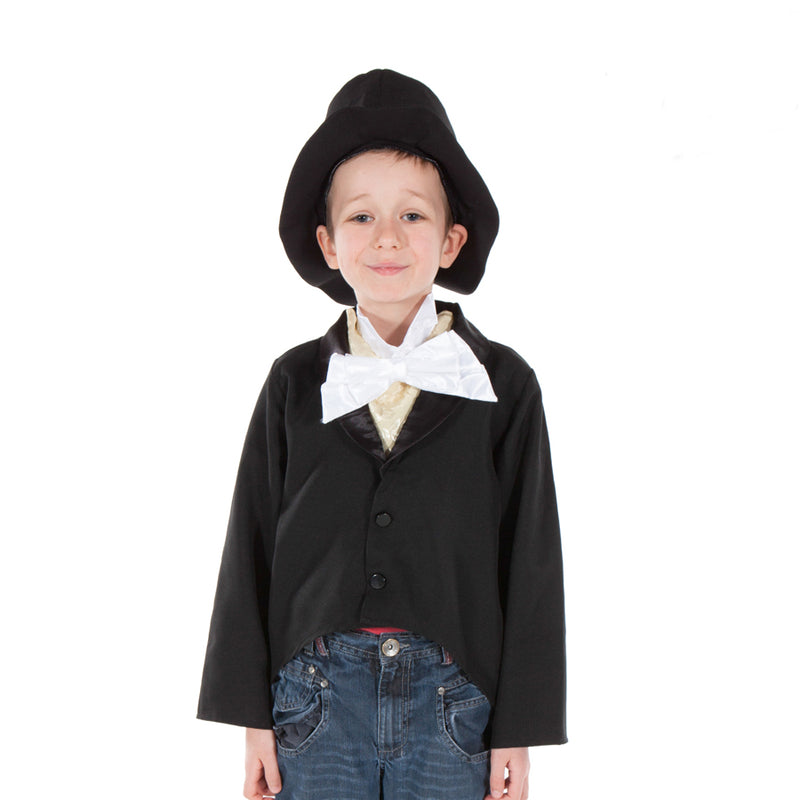 Children's Victorian Gent with Top Hat and Tailcoat , Children's Costume - Pretend to Bee