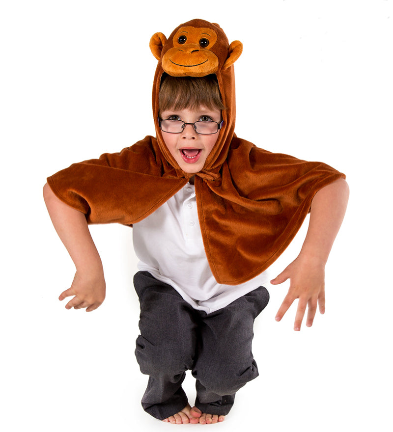 Children's Monkey Fancy Dress Cape- Monkey Costume -Time to Dress Up -1