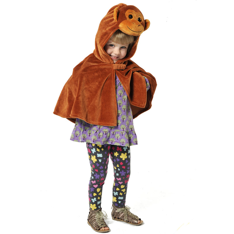 Children's Monkey Fancy Dress Cape- Monkey Costume -Time to Dress Up