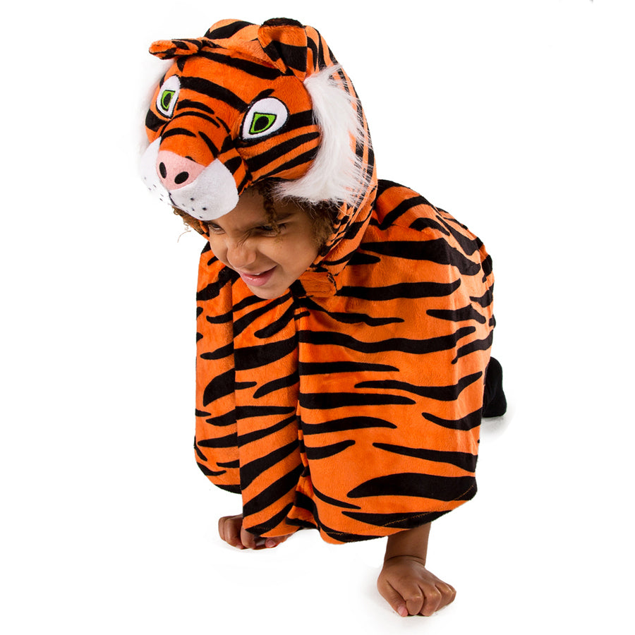 Children's Tiger Fancy Dress Cape, Tiger Costume, Children's Costume-Pretend to Bee