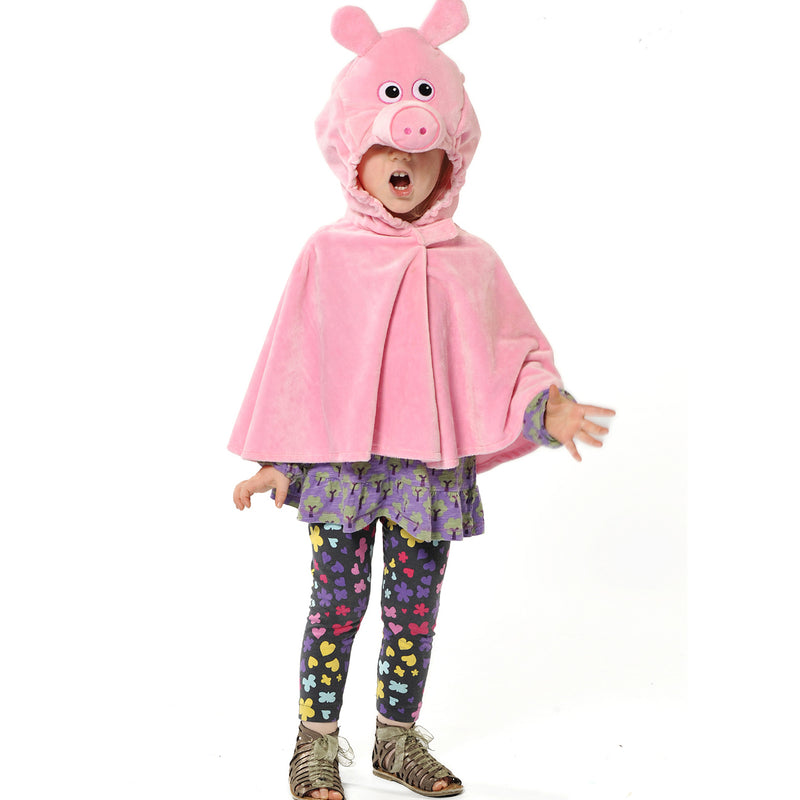 Children's Pig Fancy Dress Cape- Pig Costume -Children's Costumes- Pretend to Bee