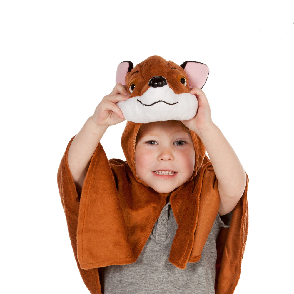 Children's Fox Fancy Dress Cape-Fox Costume - Children's Costume-Pretend to Bee
