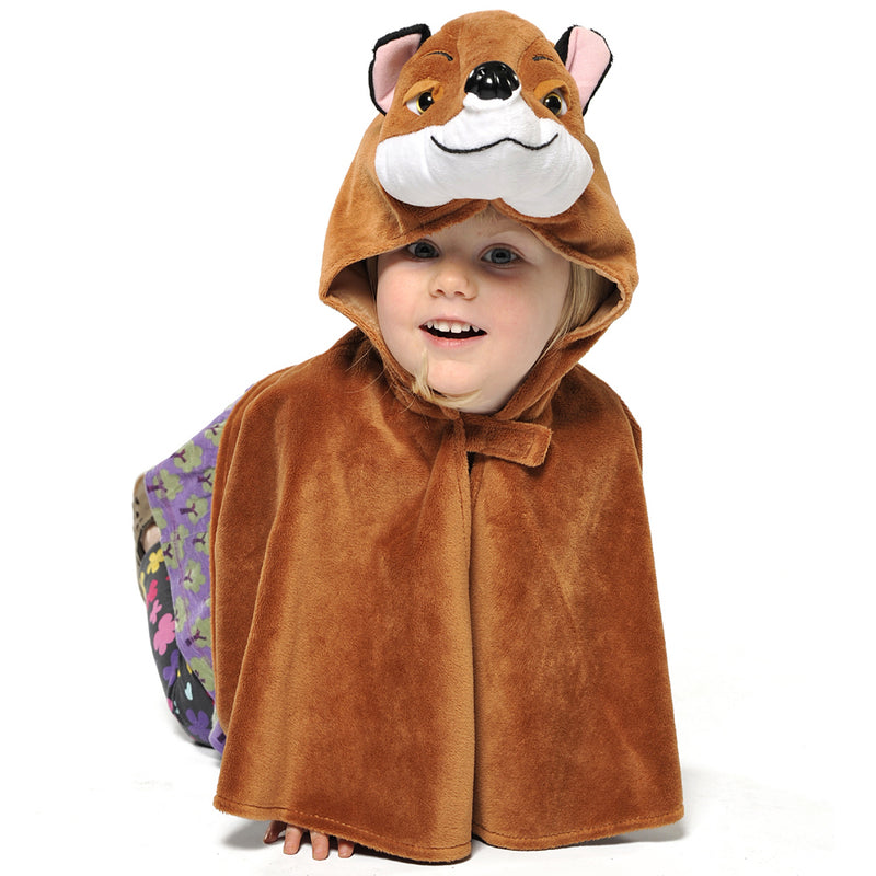 Children's Fox Fancy Dress Cape- Children's Dress Up-Pretend to Bee