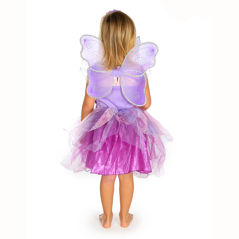 Amethyst Fairy Dress Up Costume- back view