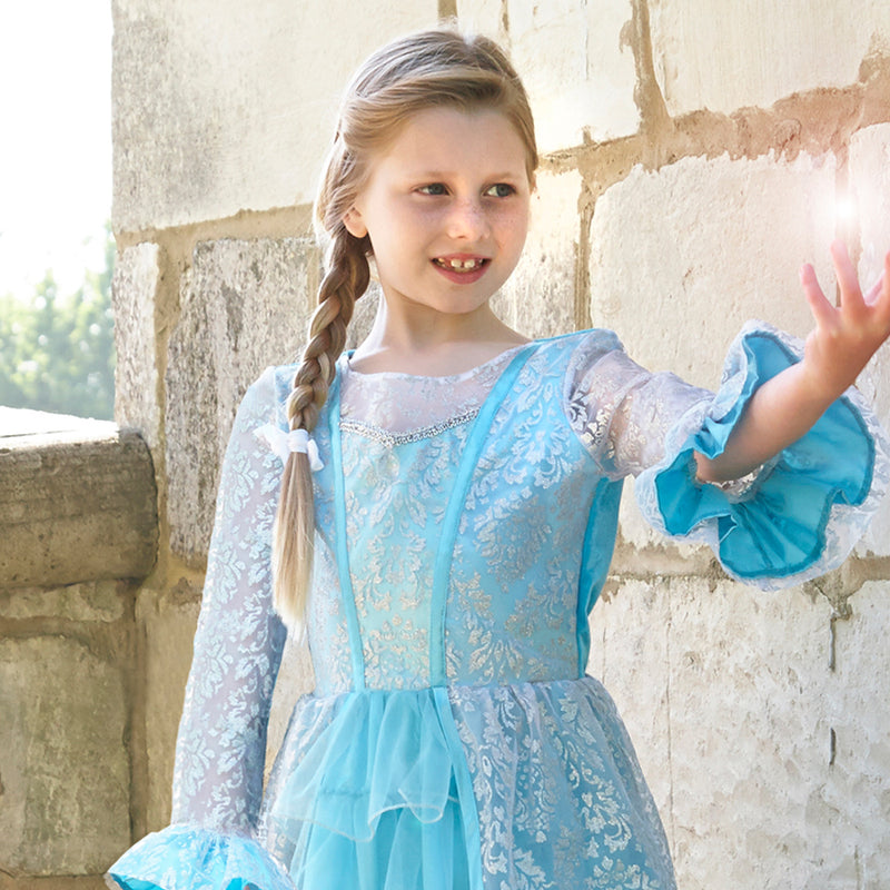 Azure Mist Frosted Sparkle Dress , Children's Costume - Travis Designs