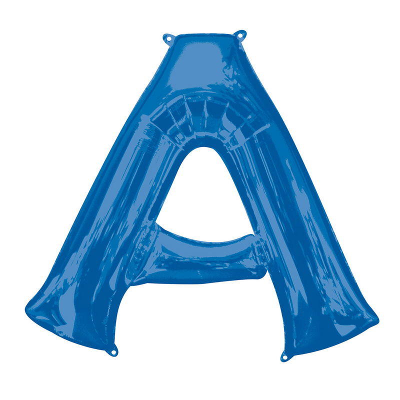 Foil Balloon Letters- Blue- Air inflated