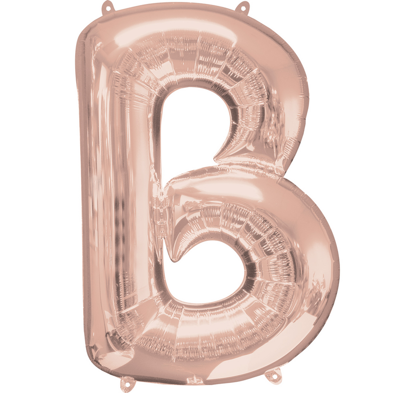 Giant Rose Gold Foil Balloon Letters-34 inch - Helium Filled