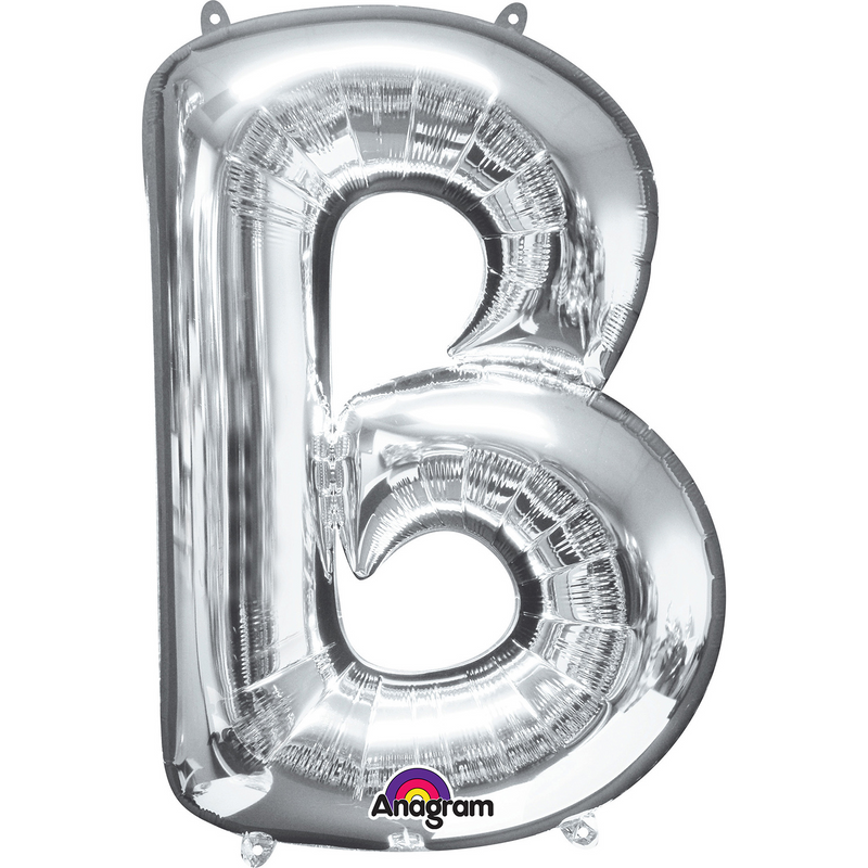 Silver Foil Balloon Letters-16 inch/40 cm - Air Filled