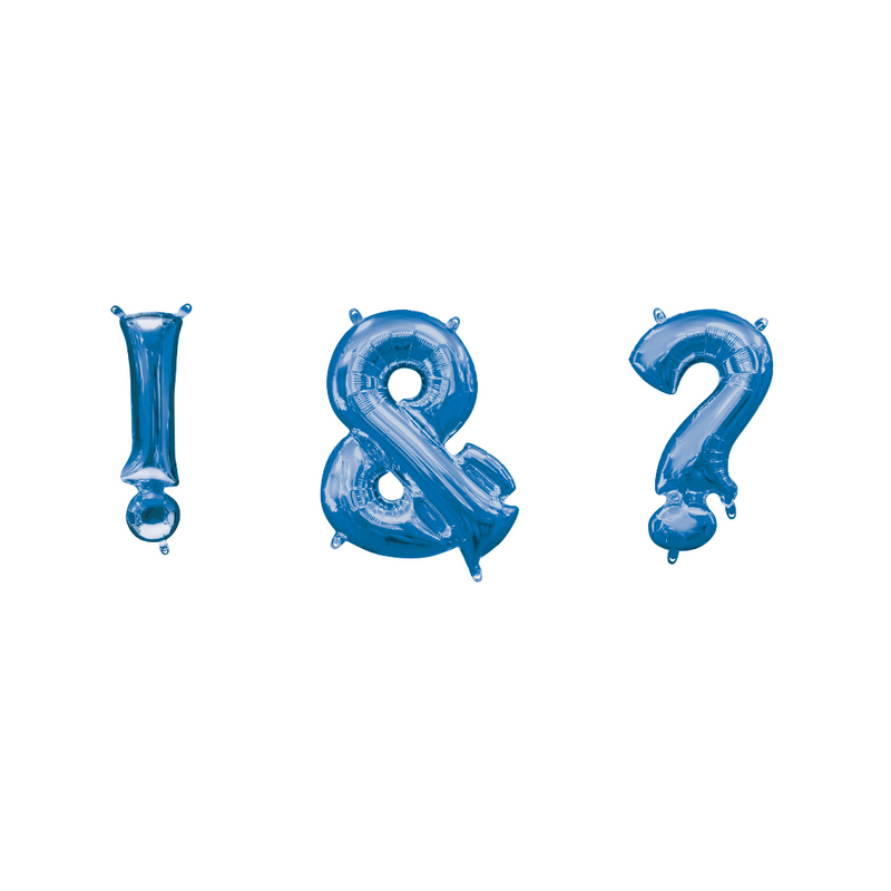 Blue Foil Balloon Numbers-16 inch/40 cm - Air Filled
