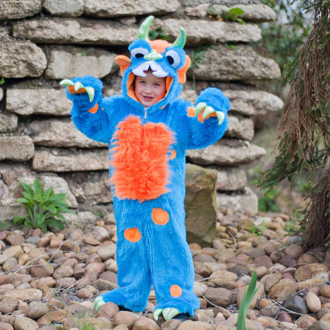 Children's Big Blue Monster Dress Up