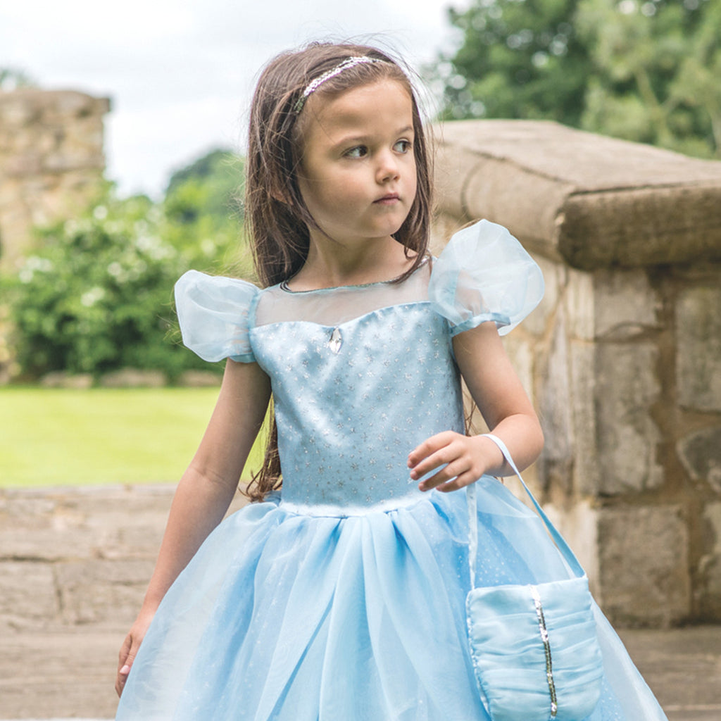 Children's Blue Shimmer Princess Dress , Children's Costume - Travis Designs