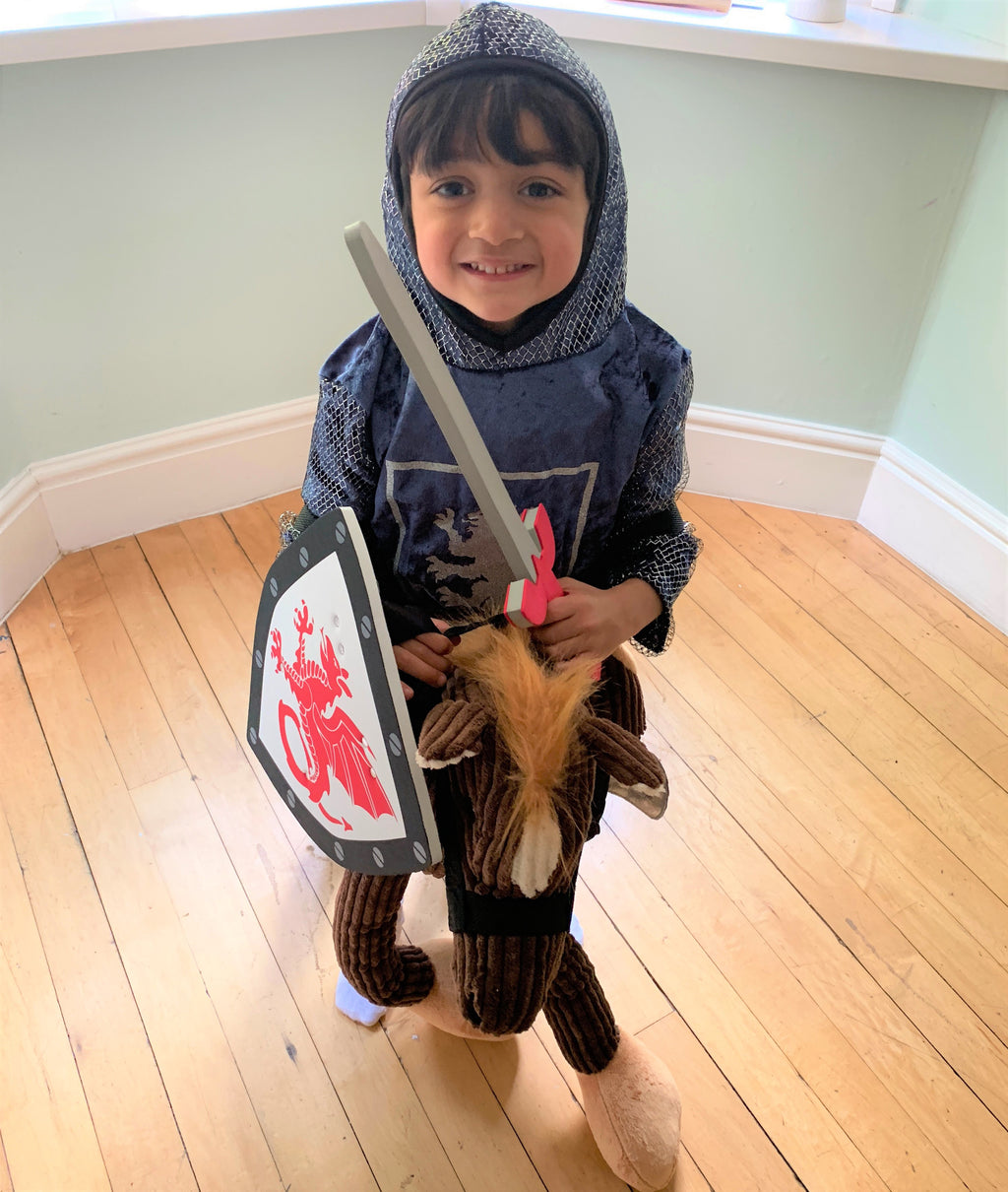 Children's Knight Crusader Tabard with Sword and Shield