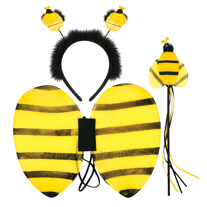 Bumblebee Wings, Headband & Wand  Set