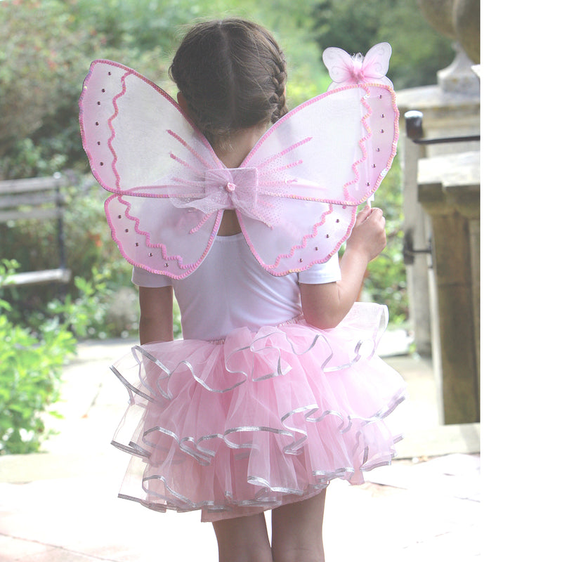 Children's Fairy Silver Wing & Wand Dress Up