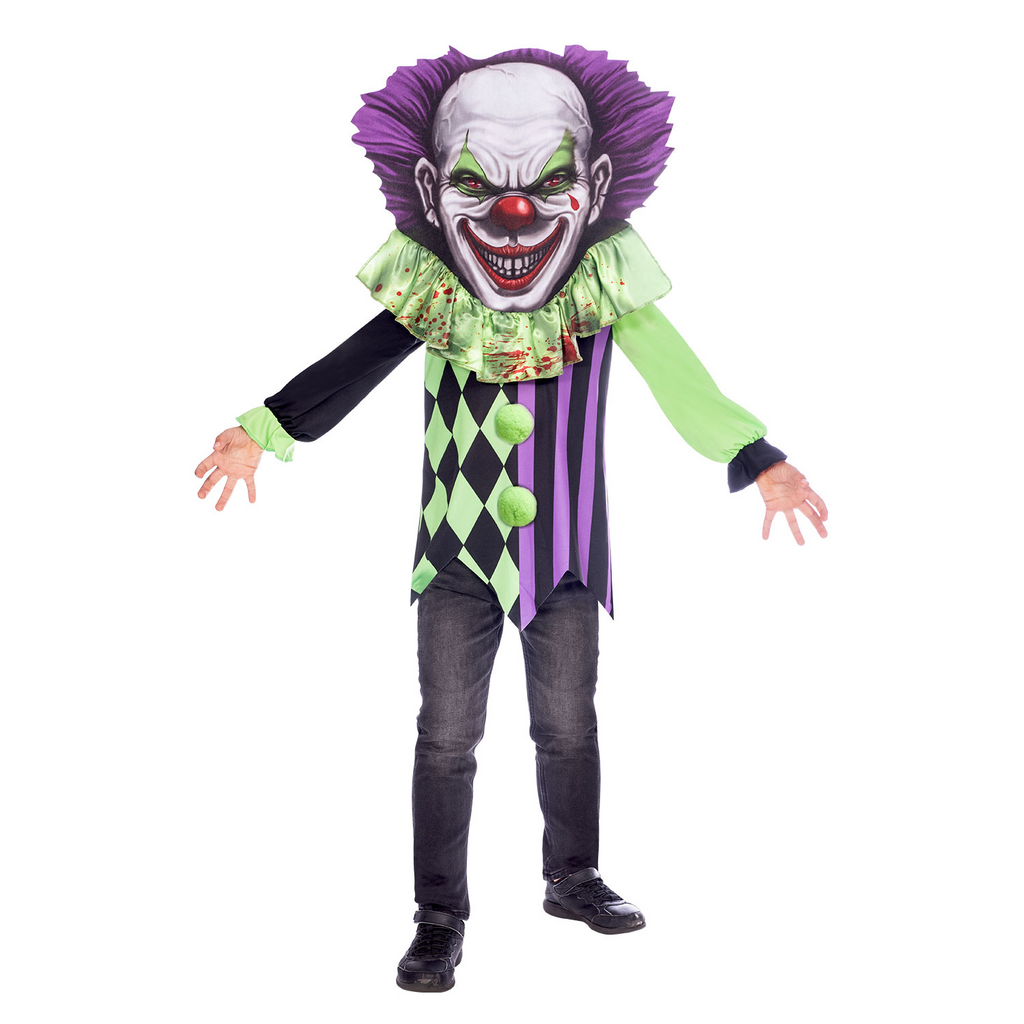 Scary Clown Big Head Costume