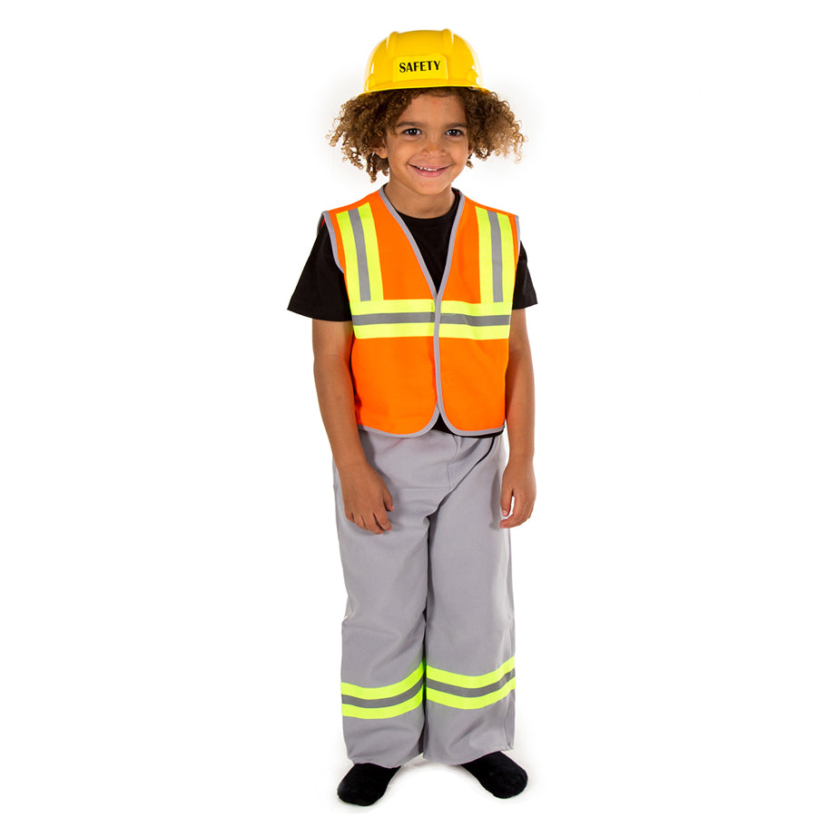 Children's Construction Worker Costume- Children's Dress Up- Time to Dress Up
