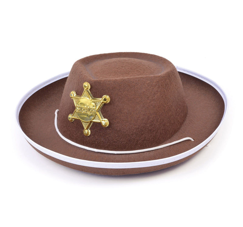 Cowboy or Sheriff Hat with Badge