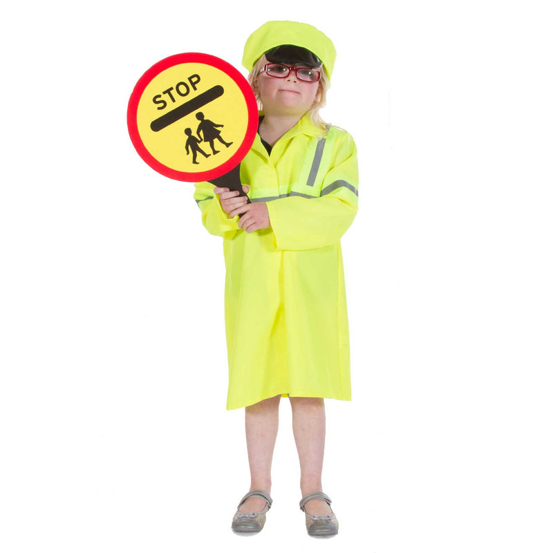 Children's Crossing Patrol Officer Costume- Lollipop Lady-Children's Fancy Dress- Time to Dress Up