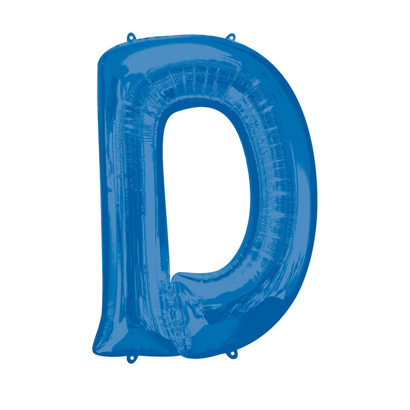 Blue Foil Balloon Letters-16 inch/40 cm - Air Filled