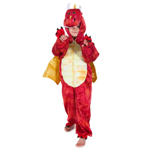 Children's Red Dragon Dress Up Costume