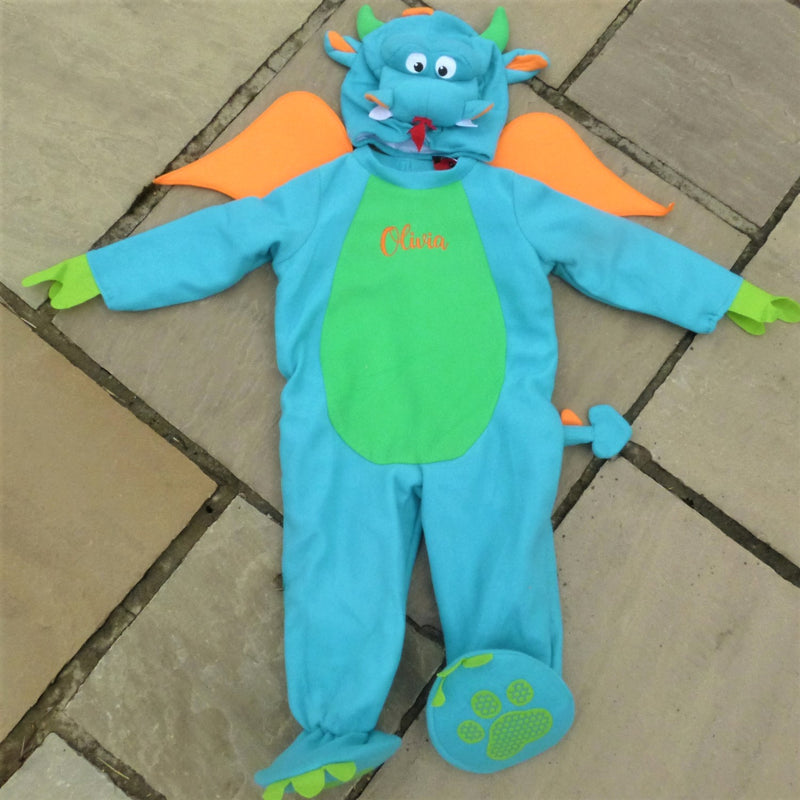 Little Dragon Baby Fancy Dress Costume- Personalised