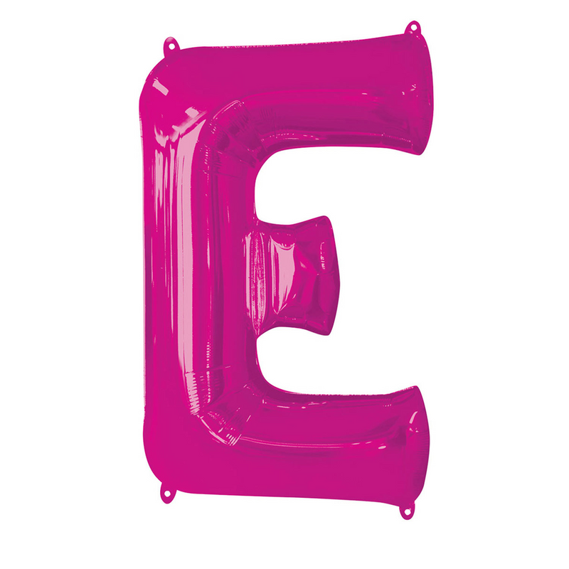 Giant Pink Foil Balloon Letters-34 inch - Helium Filled
