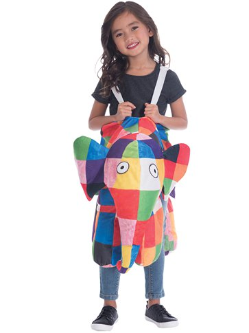 Children's Ride On Elmer the Patchwork  Elephant Costume