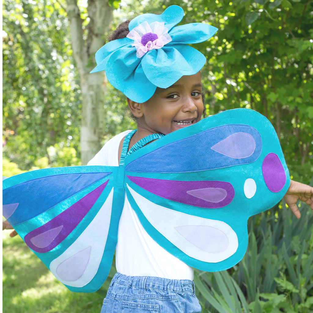 Children's Felt Applique Wings and Headband, Children's Costume