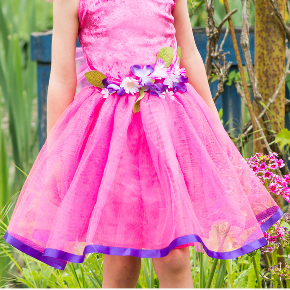 Childrens Pink Flower Fairy Dress Personalised Time To Dress Up