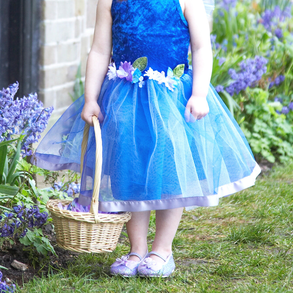 Blue Flower Fairy Dress , Children's Costume - Personalised Gift for Girl 2