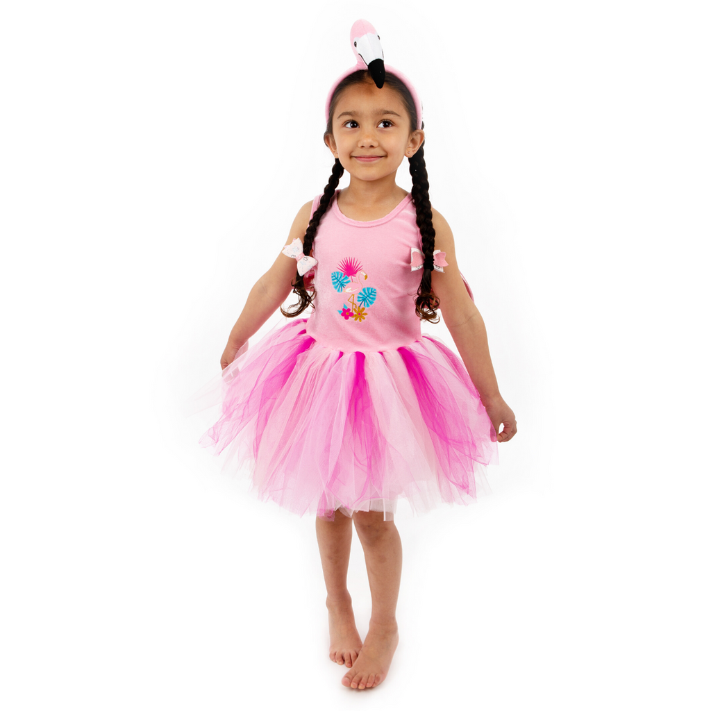 Children's Flamingo Tutu Dress with Headband