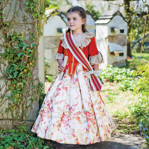 Children's Floral Princess Dress Up Costume
