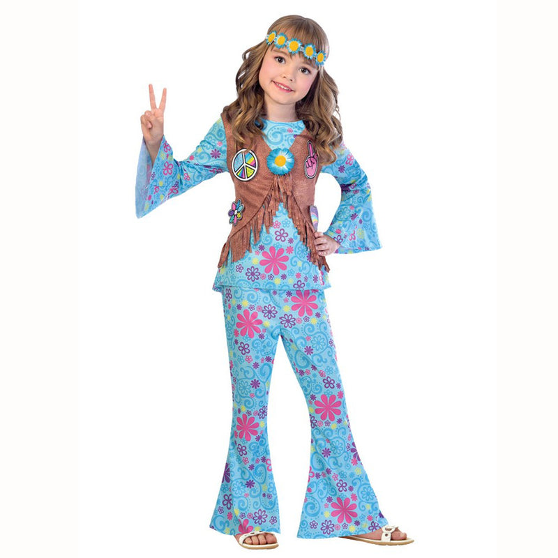 Miss 1960's Flower Power Hippie Costume